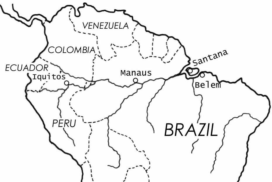 地図 アマゾン 川 沸騰する川 (アマゾン)の場所を地図で確認!魚や生物は生息してる?